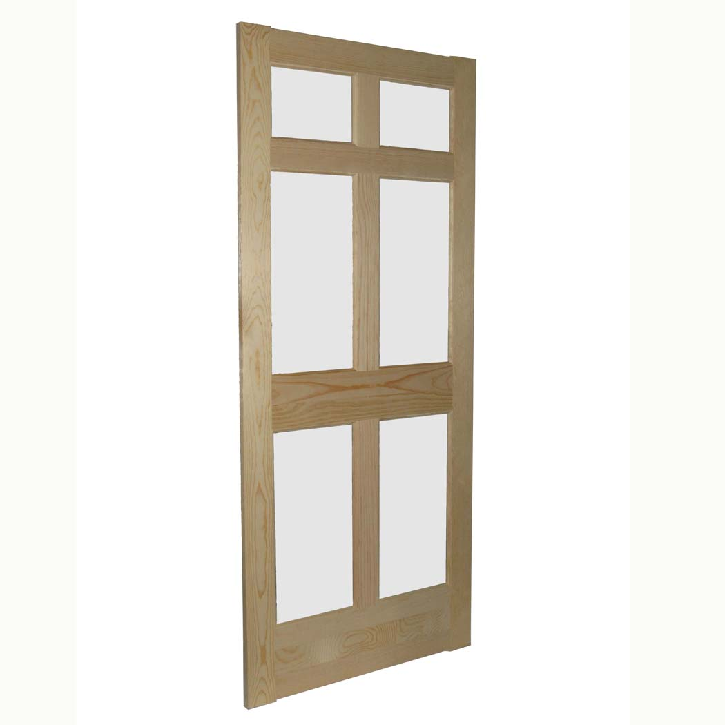 6 Lite White Pine Storm Door Capitol City Lumber