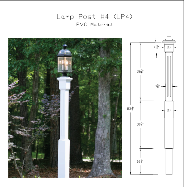 Pvc Lamp Posts Capitol City Lumber