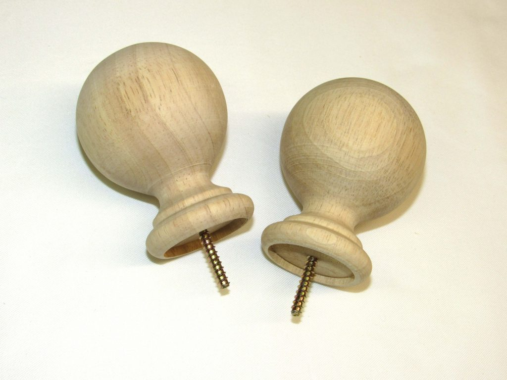 Solid Unfinished Ball Finial Capitol City Lumber