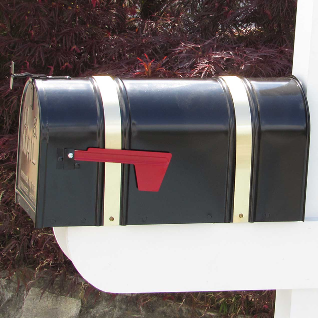 Black Mailbox With Brass Straps Capitol City Lumber