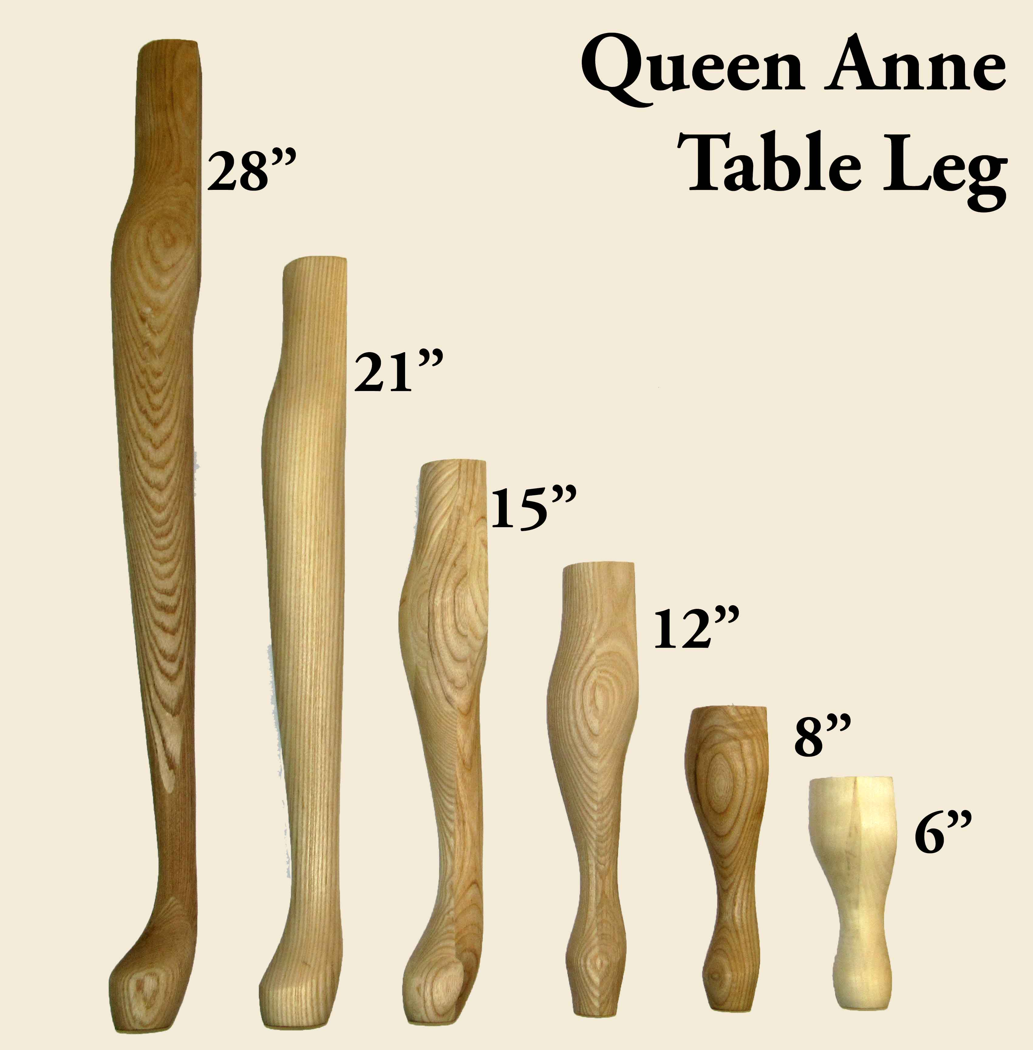 Queen Anne Legs 2 Pack Capitol City Lumber