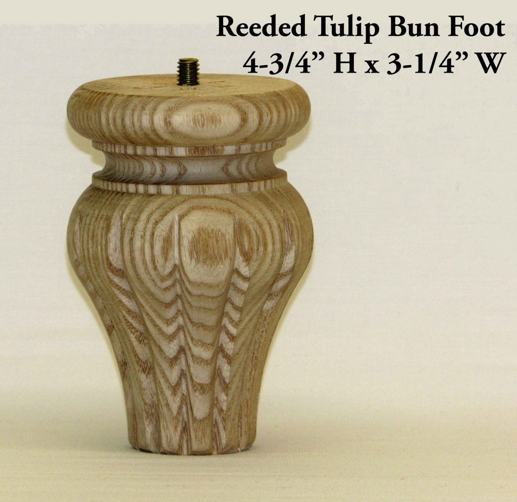 Reeded Tulip Bun Foot Pair Capitol City Lumber