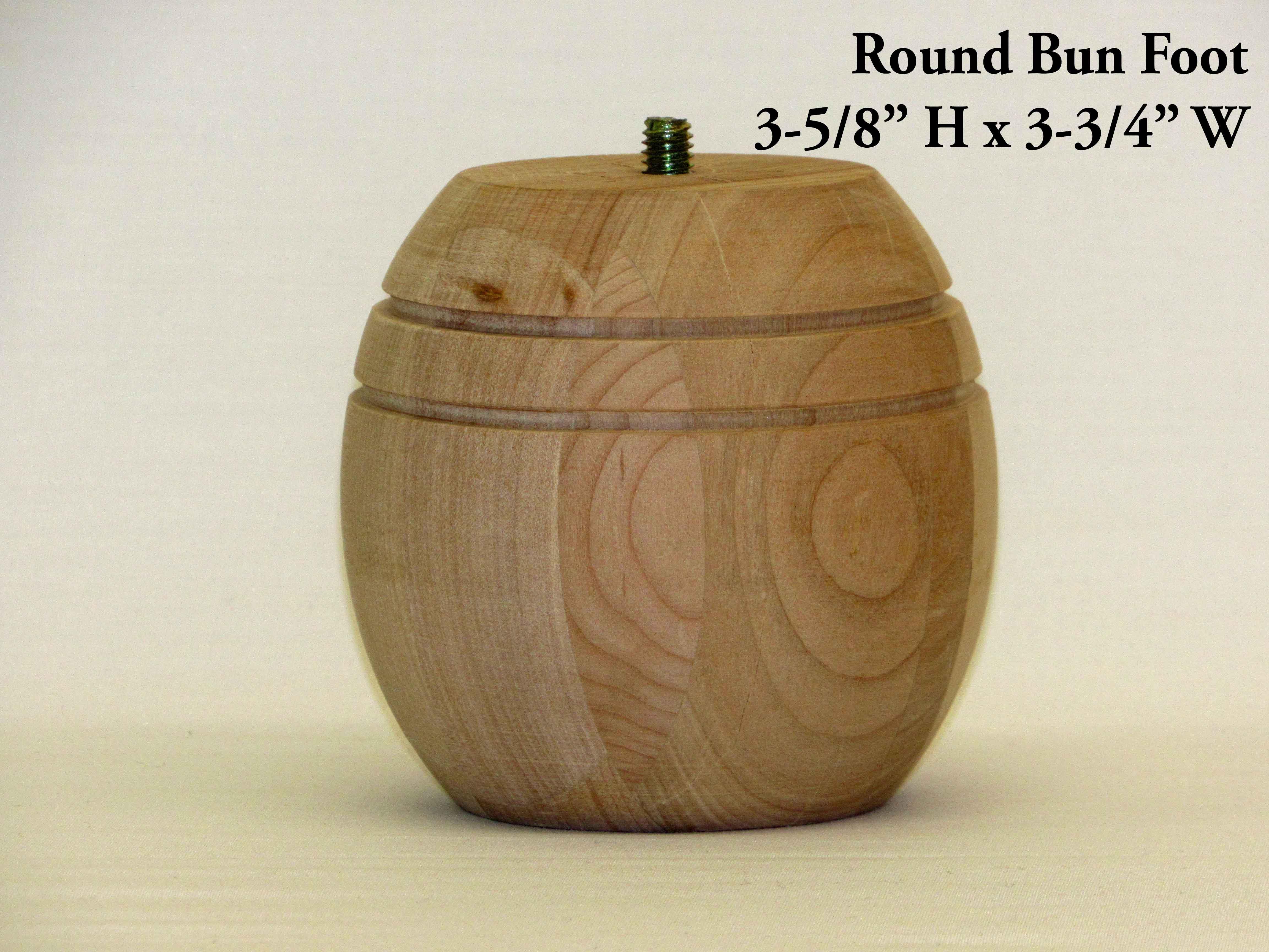 Round Bun Foot Pair Capitol City Lumber