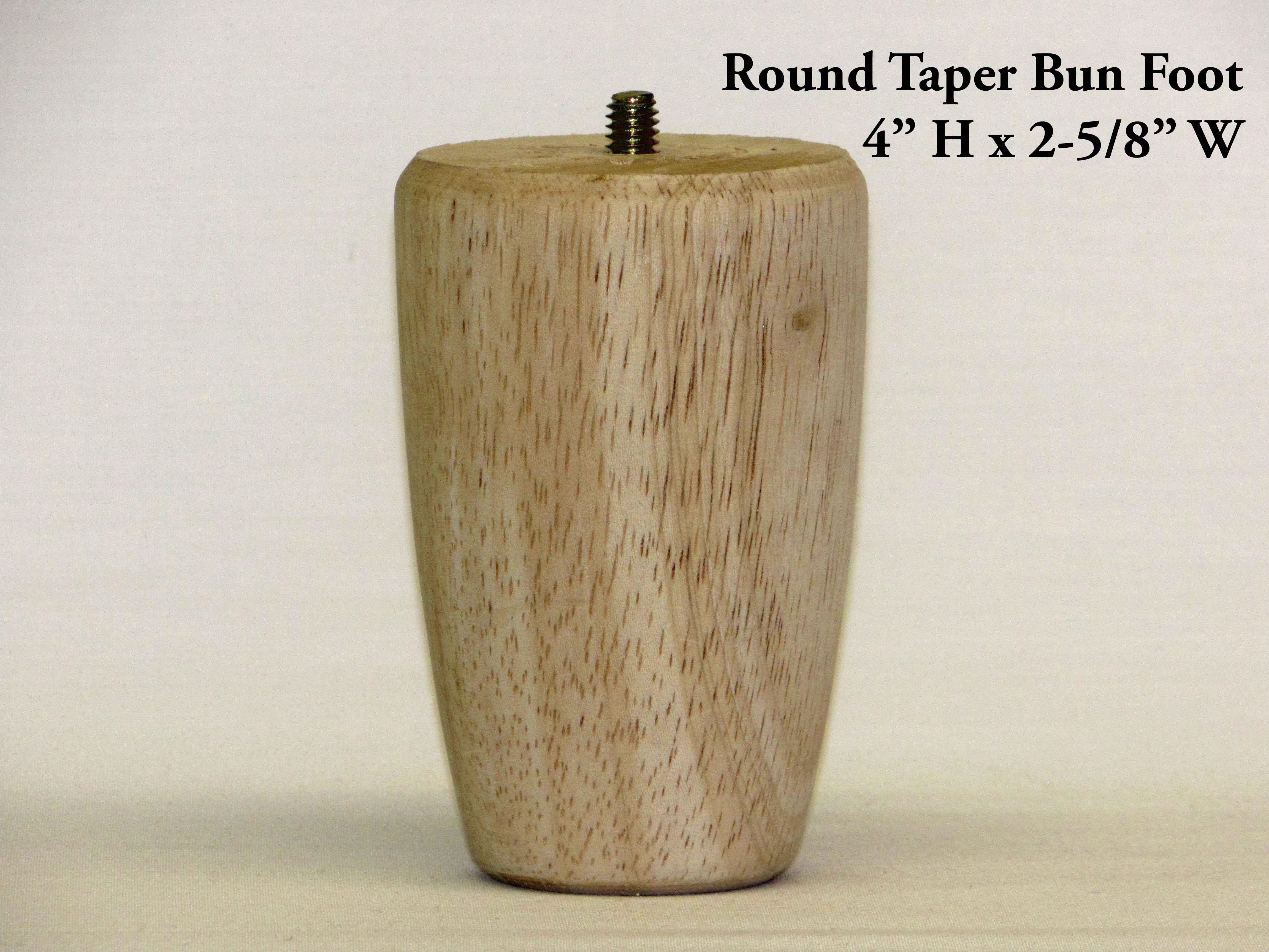 Round Taper Bun Foot Pair Capitol City Lumber
