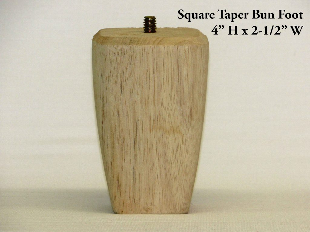 Square Taper Bun Foot Pair Capitol City Lumber