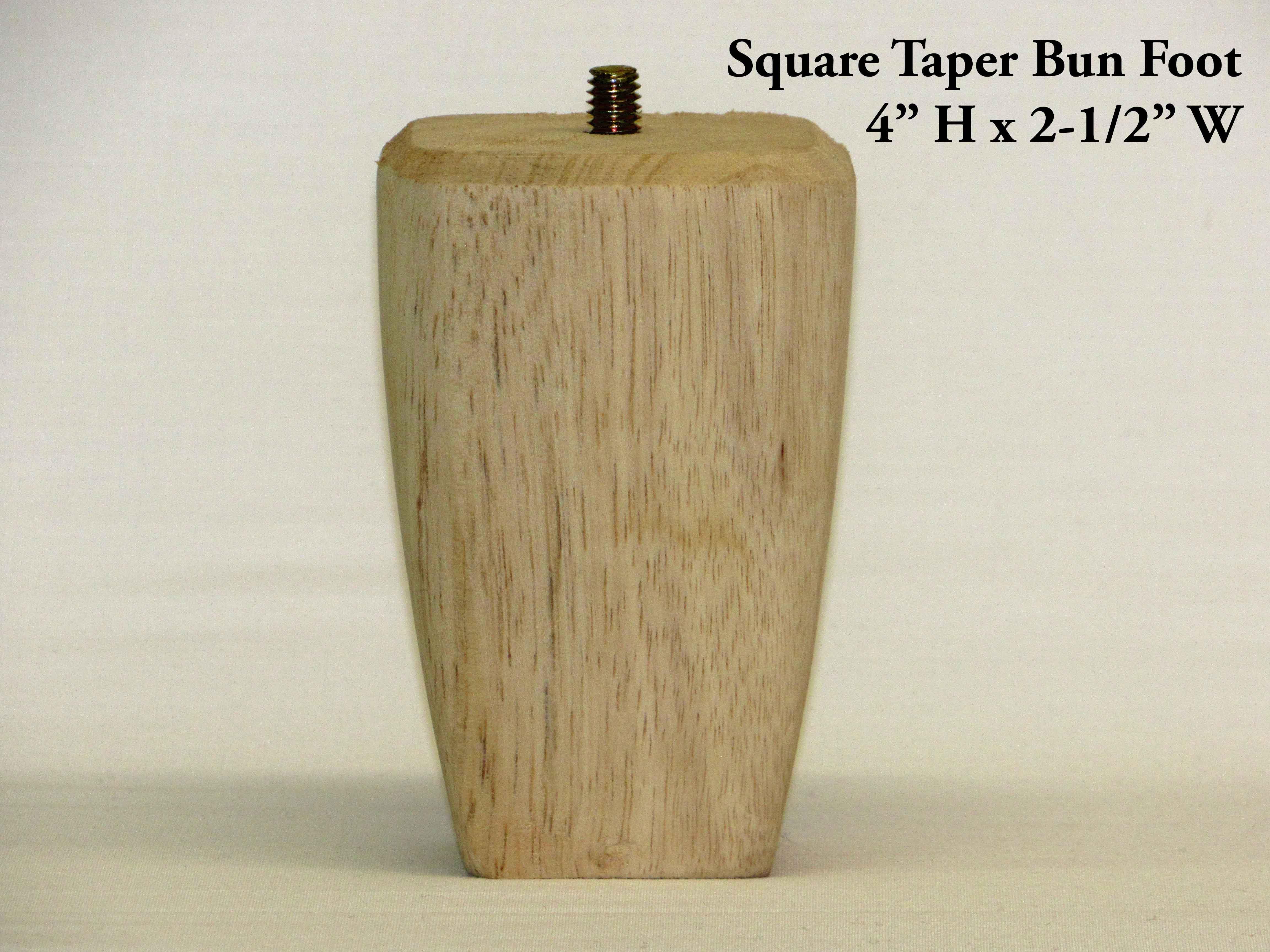 Square Taper Bun Foot Pair Capitol City Lumber