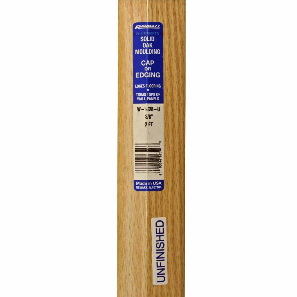 Oak Moulding 3 8 Quot Overlap Edge Capitol City Lumber