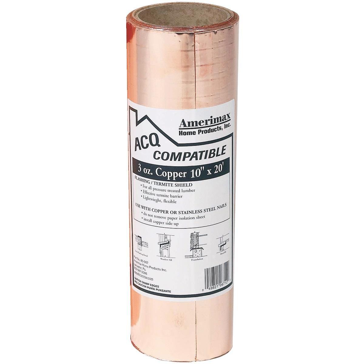 3 Oz Copper Flashing Roll Capitol City Lumber